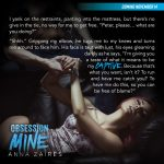 Check out the first Obsession Mine teaser!